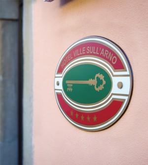 Plaque de classement hôtelier pour l'Italie