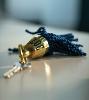 Porte-clés avec frange
