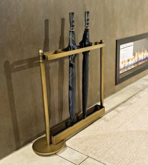 Porte-parapluie rectangulaire moderne en métal