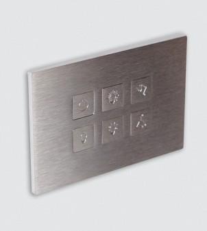 Plaques électriques en acier inoxydable avec boutons