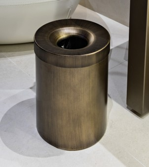 Corbeille à papier en acier inox