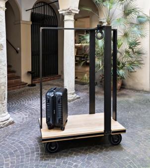 Chariot bagages design pour hôtel