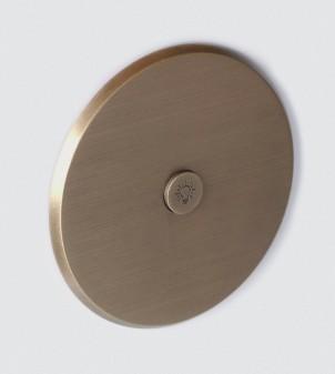 Plaque électrique en laiton de forme ronde