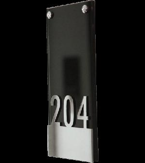 Plaque signalétique BLACK pour hôtel ou centre d'affaires