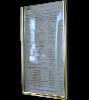 Support pour menu ou informations en général