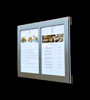 Support pour menus, prix des chambres et tarif bar