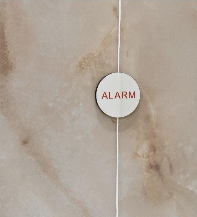 Plaquette d'alarme de douche