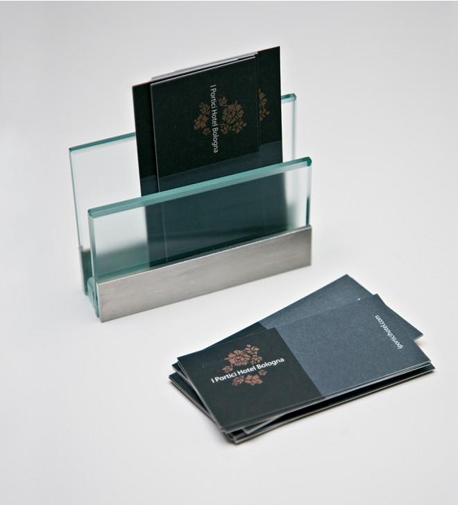 Porte-carte de visite en verre transparent