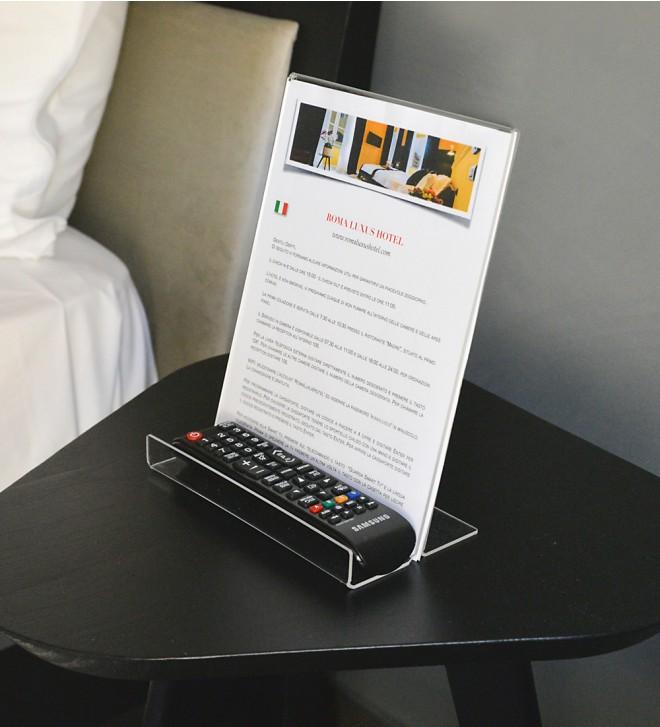 Support de bureau pour images avec porte-télécommande