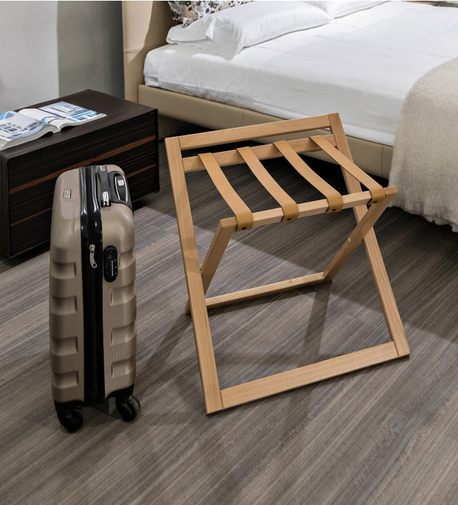 Porte-bagages en bois
