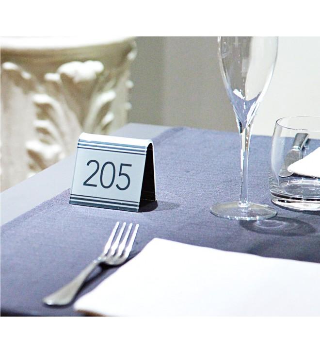 Support pour numéro de table, modèle contemporain