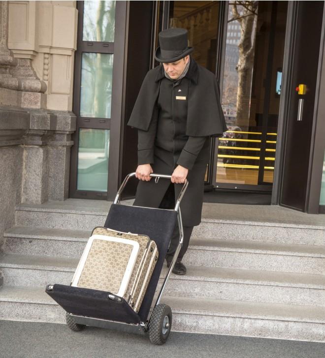 Chariot porte valises pliable LEO