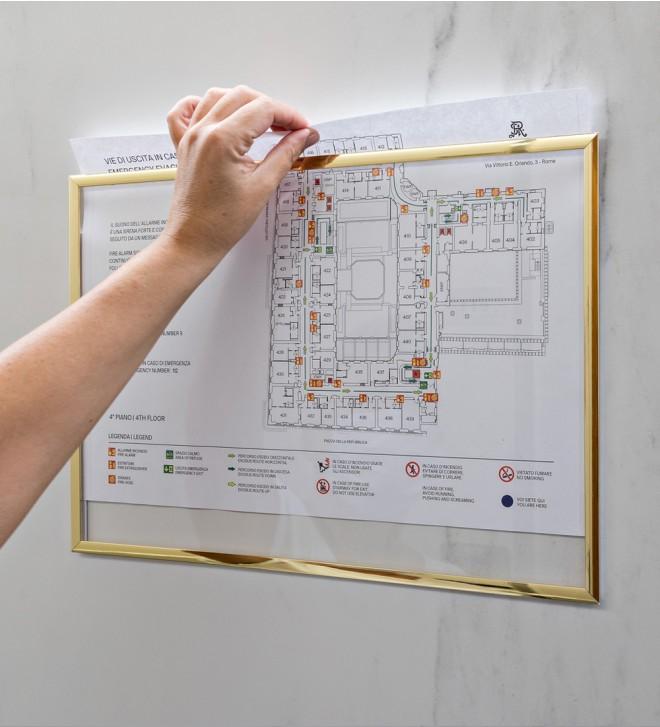 Supports pour consignes sécurité incendie et plan d'évacuation
