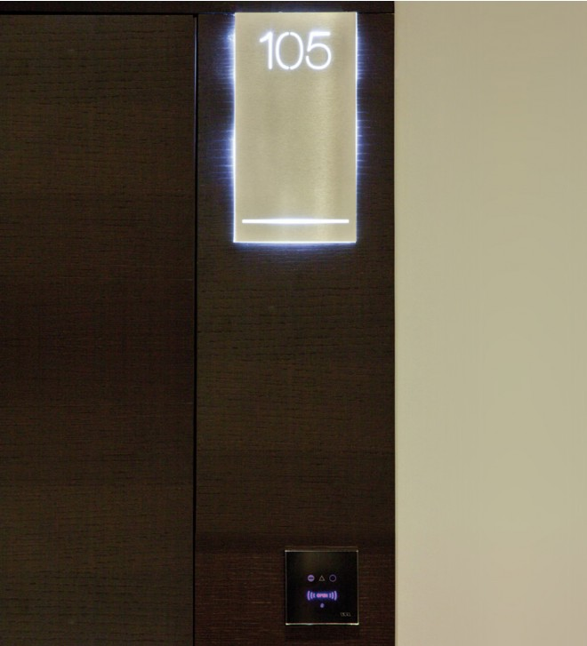 Signalétique SAVLED avec éclairage LED