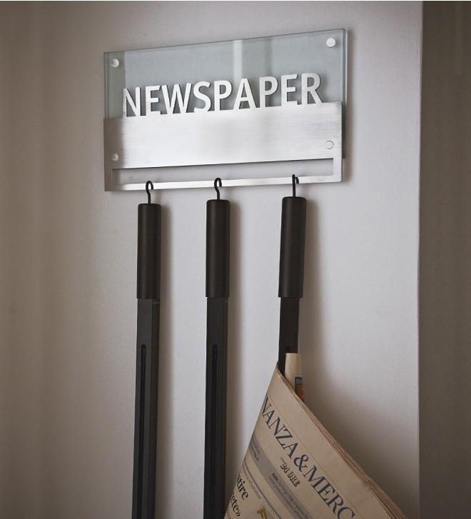 Porte journaux mural