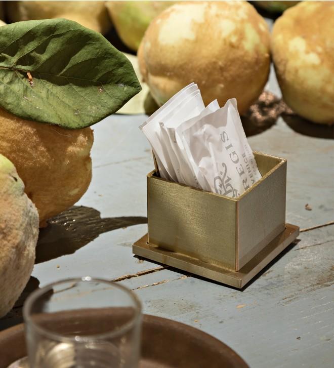 Porte-sachets de sucre pour bar