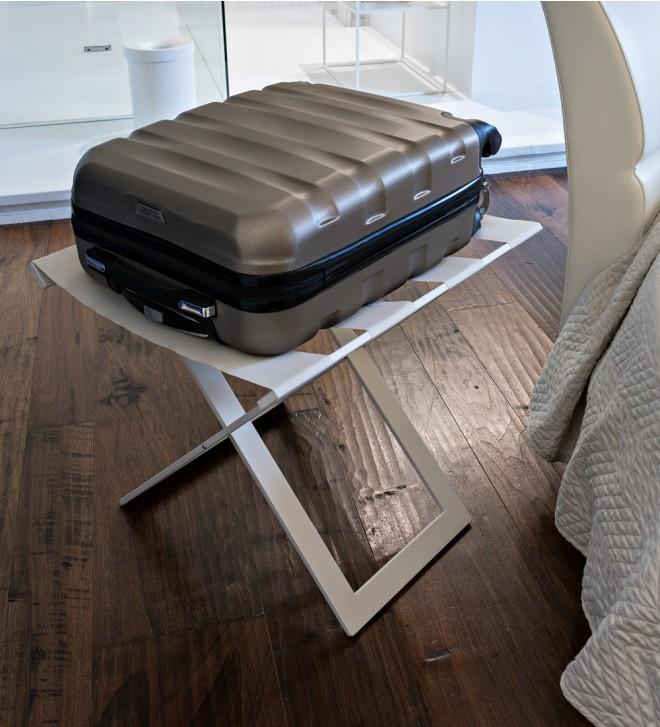 Porte-valises pliant SUITTY en métal verni