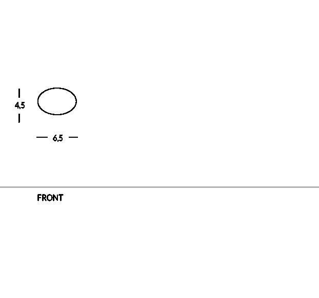 Broche porte-nom ovale