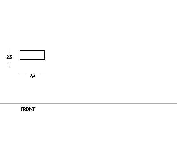 Broche porte-nom rectangulaire avec attache magnétique