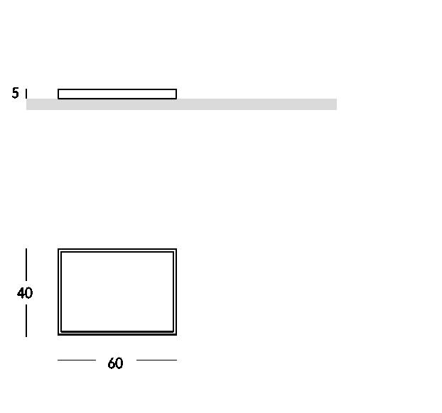 Série de plateaux de forme rectangulaire avec poignées