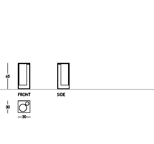 Cendrier corbeille