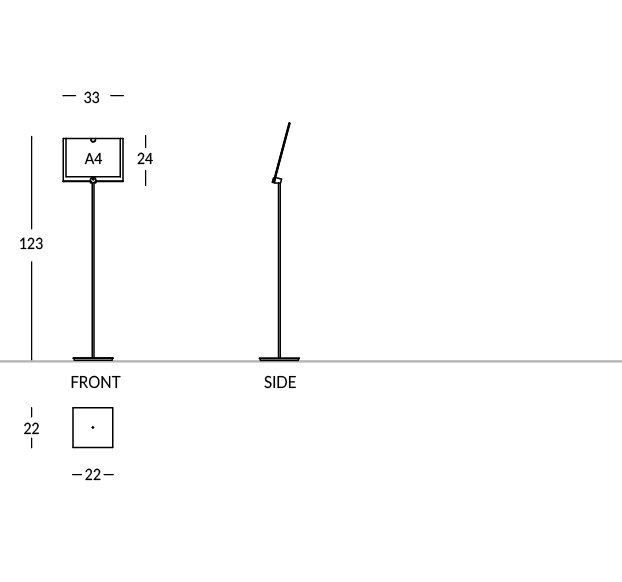 Modèle avec poche photo A4 horizontal.