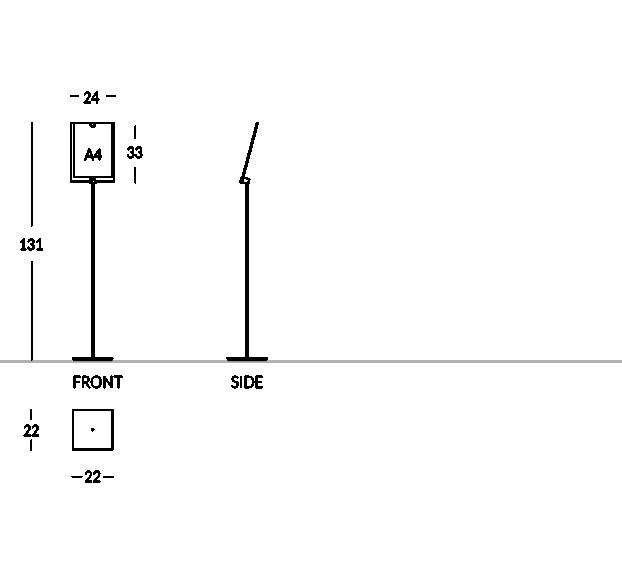 Modèle avec poche photo A4 vertical.